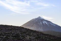 黄雀色el海岛西班牙teide tenerife火山 图库摄影