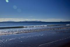 黄雀色gomera海岛海岛横向被看见的tenerife 库存照片