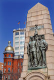雀鳝南北战争纪念华盛顿特区 库存图片