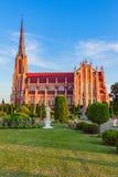 雄伟美丽的三位一体教会在Gervyaty,白俄罗斯 库存图片