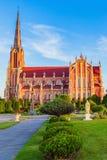 雄伟美丽的三位一体教会在Gervyaty 库存照片