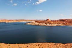 雄伟美好的巨大的湖的powell 免版税库存图片