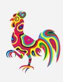 雄鸡抽象颜色 库存照片