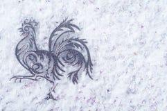 雄鸡是2017年的标志 免版税库存图片