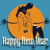 雄鸡的新年快乐 免版税库存照片