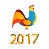 雄鸡的2017个新年 免版税库存照片