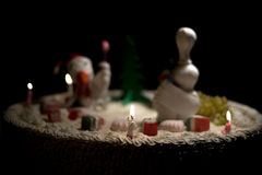雄鸡蛋糕母鸡蛋糕,鸡蛋糕,鸟蛋糕 免版税库存图片