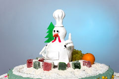 雄鸡蛋糕母鸡蛋糕,鸡蛋糕,鸟蛋糕 免版税库存照片