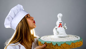 雄鸡蛋糕蛋糕雄鸡,鸡饼,鸡饼,蛋糕鸟 免版税库存图片