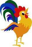 雄鸡,公鸡动画片设计元素 库存图片