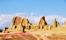 雅丹地形-恶魔城市在新疆 免版税图库摄影