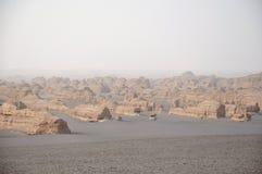 雅丹地质公园,敦煌,中国 库存照片