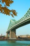 雅克・卡蒂埃桥梁在蒙特利尔在加拿大 库存图片