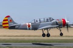 雅克夫列夫牦牛52W俄国军用教练机VH-YKW 库存照片