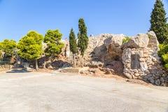 雅典。Areopagus 库存图片
