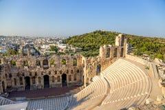 雅典。Herodes埃迪克Odeon  库存图片
