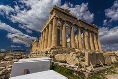雅典上城,帕台农神庙 免版税库存照片