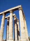 雅典东部奥林山南寺庙视图宙斯 图库摄影