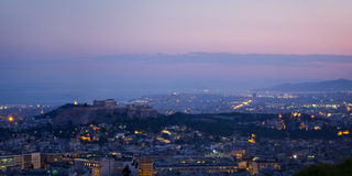 雅典全景 免版税图库摄影
