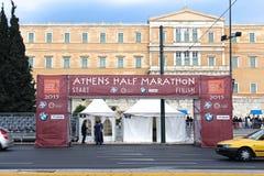 雅典半马拉松 免版税库存照片