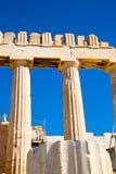 雅典在希腊老建筑学和帕台农神庙 免版税库存照片