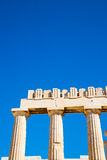 雅典在希腊老建筑学地方帕台农神庙 库存图片