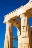雅典在希腊建筑学和帕台农神庙 免版税库存照片
