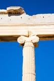 雅典在希腊建筑学和帕台农神庙 免版税库存图片