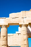 雅典在希腊建筑学帕台农神庙 库存照片