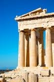 雅典在建筑学和历史地方帕台农神庙 免版税库存图片