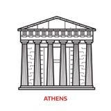雅典地标传染媒介例证 皇族释放例证