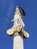 雅典娜・希腊雕象 库存照片