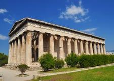 雅典娜・希腊hephaestus寺庙 库存图片