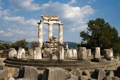 雅典娜・特尔斐寺庙 免版税库存图片