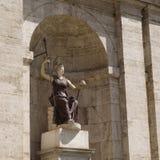 雅典娜古老雕象美国国会的 库存照片