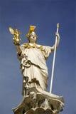 雅典娜喷泉雕象维也纳 库存照片
