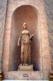 雅典娜或雅典娜雕象  库存照片