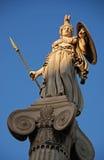 雅典娜神雕象 库存图片