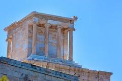 雅典娜耐克寺庙在上城的在雅典 库存图片
