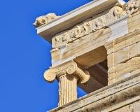 雅典娜耐克寺庙细节 库存照片