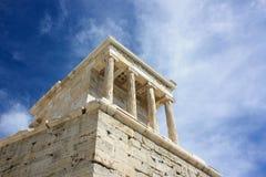 雅典娜耐克雅典,上城寺庙  雅典娜,希腊- 20 04 免版税库存图片