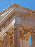 雅典娜耐克,雅典上城寺庙  库存图片