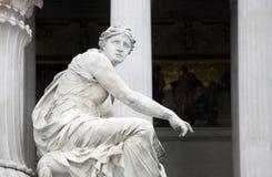 雅典娜详细资料喷泉维也纳 免版税库存图片
