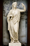 雅典娜雕塑 免版税库存照片
