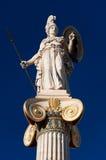 雅典娜雕象。雅典,希腊。 免版税库存图片
