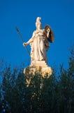 雅典娜雕象。雅典,希腊。 库存图片