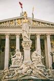 雅典娜雕象维也纳 库存照片