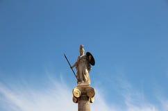 雅典娜雕象 免版税图库摄影