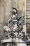 雅典娜雕象 免版税库存照片