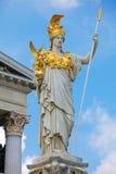 雅典娜pallas雕象维也纳 图库摄影